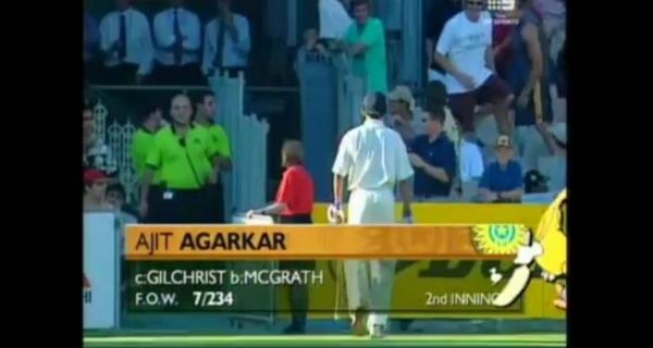 most consecutive ducks Ajit Agarkar
