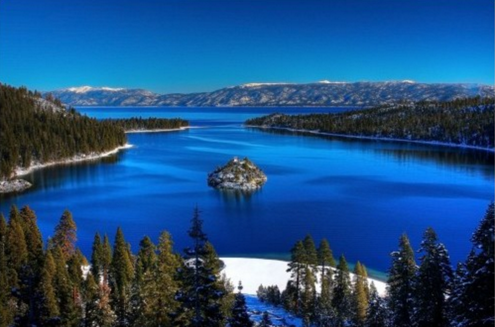 Lake Tahoe USA beautiful lakes