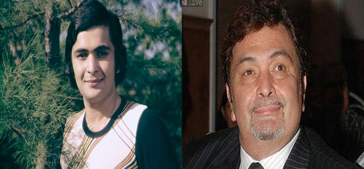 Rishi Kapoor then and Now