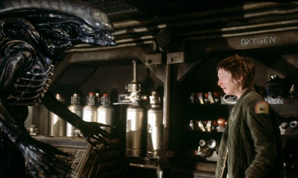 Alien is one of the old spooky movies