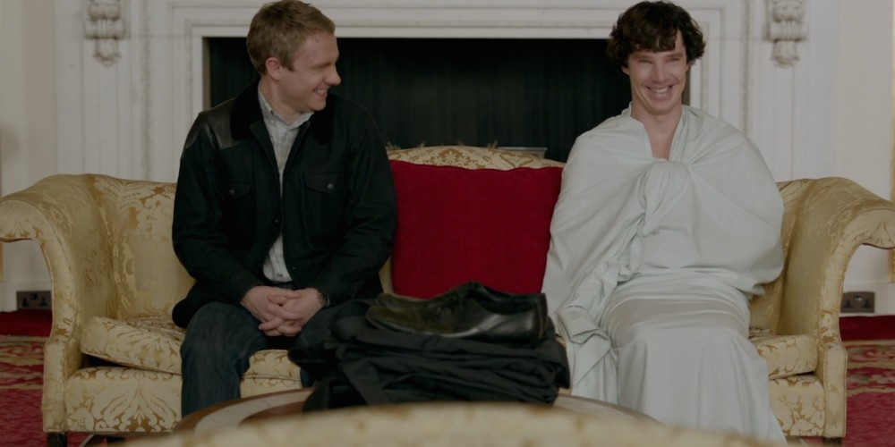 Buckingham Palace is one of the fan favourite sherlock scenes