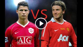Cristiano Ronaldo vs David Beckham - top 10 free kick goals [Video]