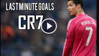 Cristiano Ronaldo Best Last Minute Goals Ever [Video]