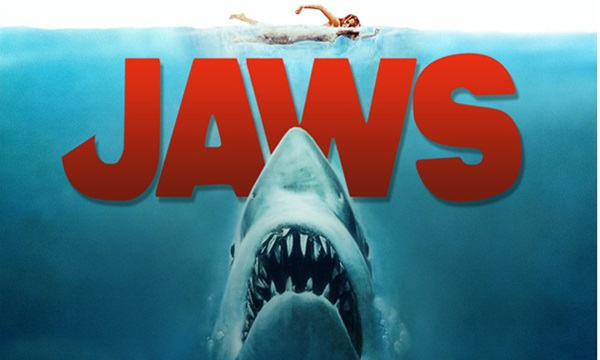 Jaws is among the spooky movies