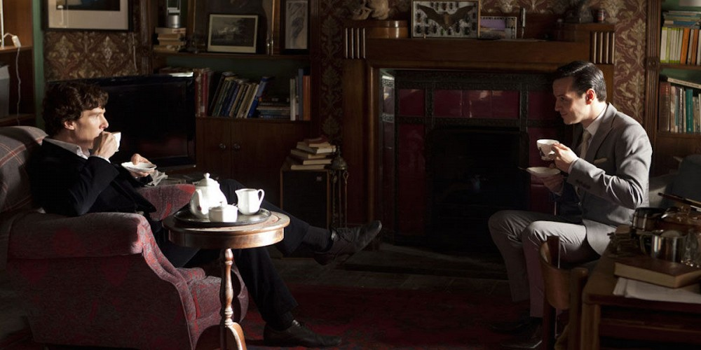 Moriarty and Sherlock having Tea is among the best Sherlock moments