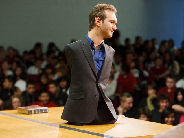 Nick Vujicic is the best motivational speaker in the whole world