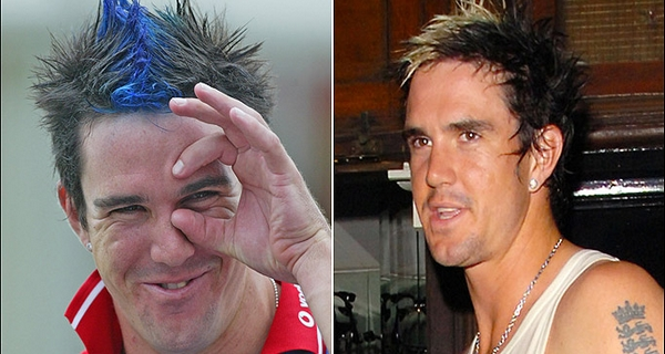 Weirdest hairstyles of Cricketers Kevin Pietersen