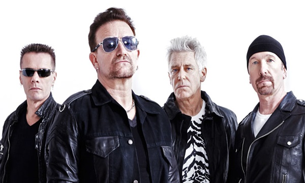 U2 are among top 10 music artists of all time