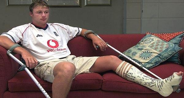 Worst cricket injuries Andrew Flintoff