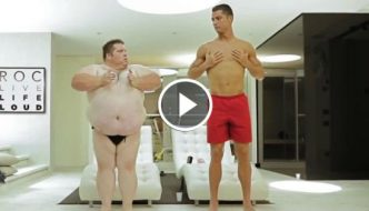 Cristiano Ronaldo in a funny fitness video with comedian Christian Busath