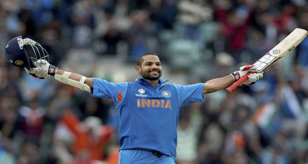 highest batting average Shikhar Dhawan