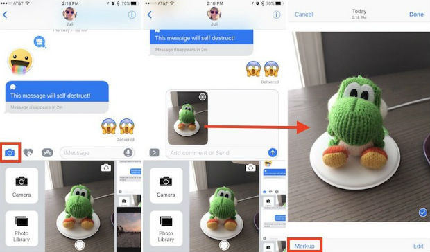 Markup option is one of the hidden features of iPhone 7
