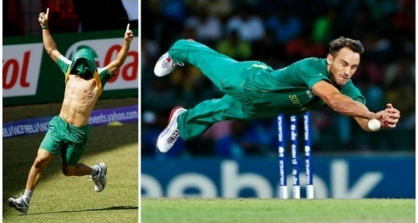 most athletic cricketers in world Faf du Plessis